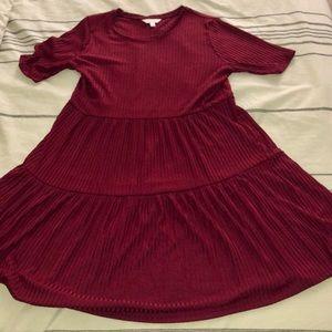 Lauren Conrad Maroon Dress